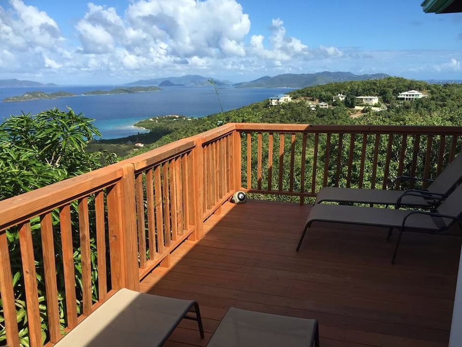 Our deck, with break taking views