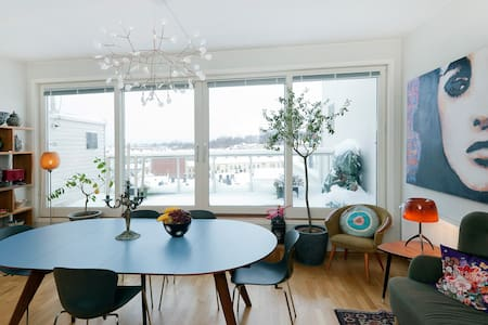 Wonderful view from modern loft - Oslo - Lejlighed