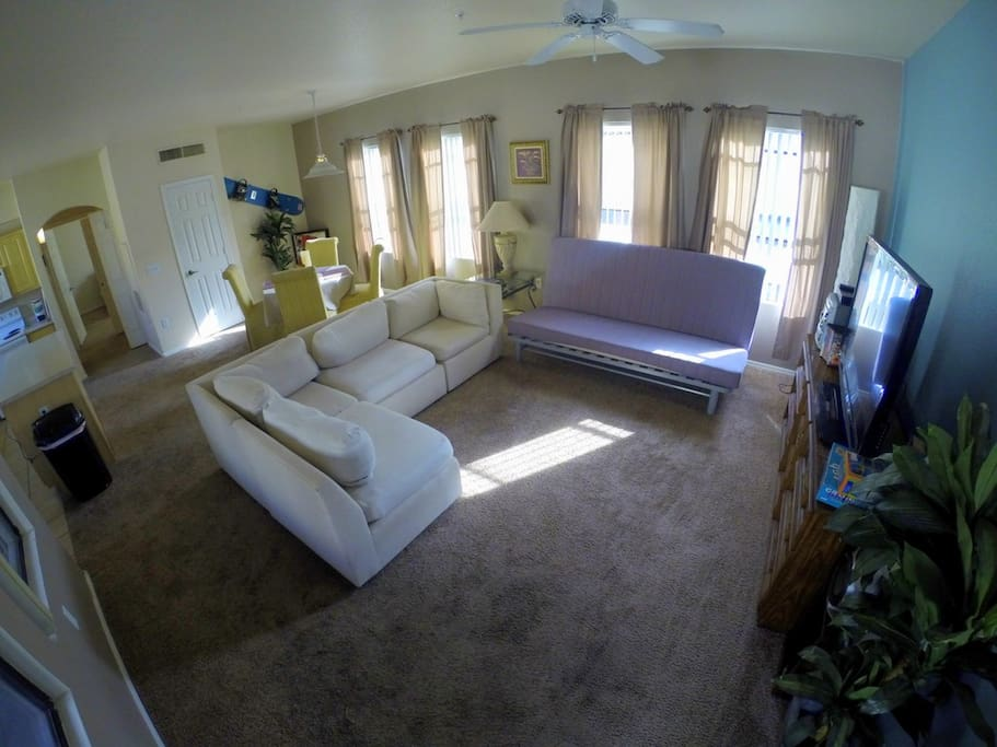 A gopro shot of the living space