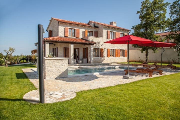 Villa Alma, with nice swimming pool - Višnjan - Villa