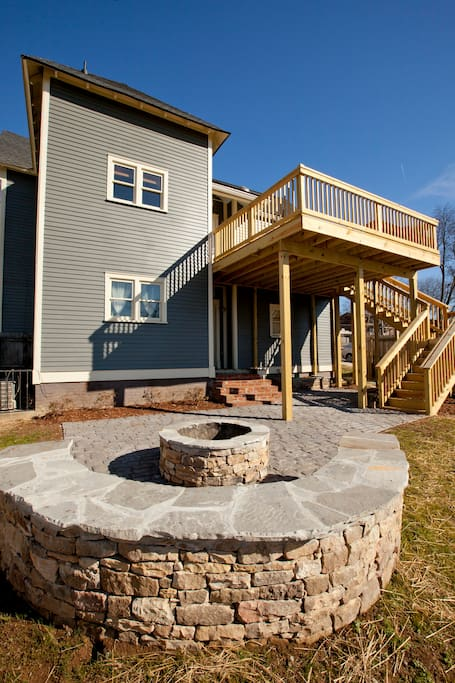 Firepit, second story deck, and sizeable yard