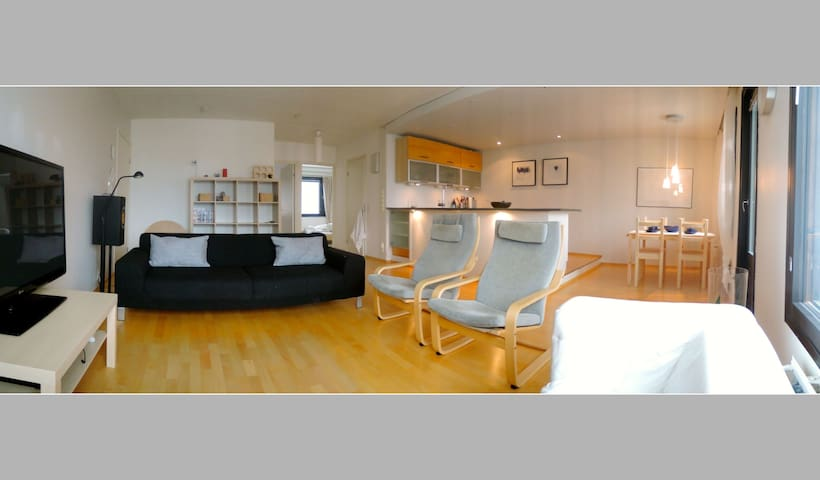 Spacious 2 bedroom modern lakeside apartment - Lahti - Byt