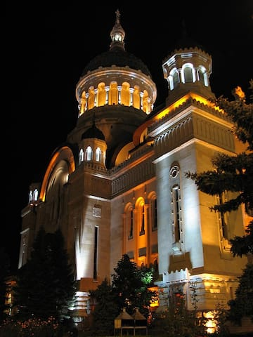The orthodox Cathedral a few steps away