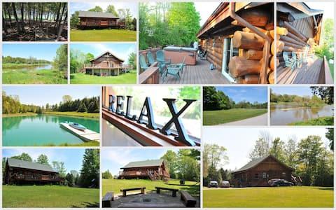 Huron County log cottage