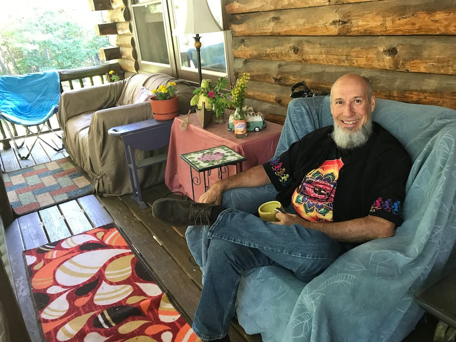 Nice porch enjoying your morning mug or watching hummingbirds.