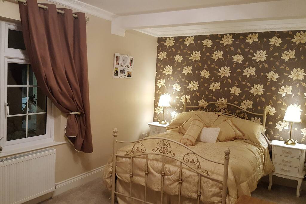 Stylish double bedroom with usb phone socket
