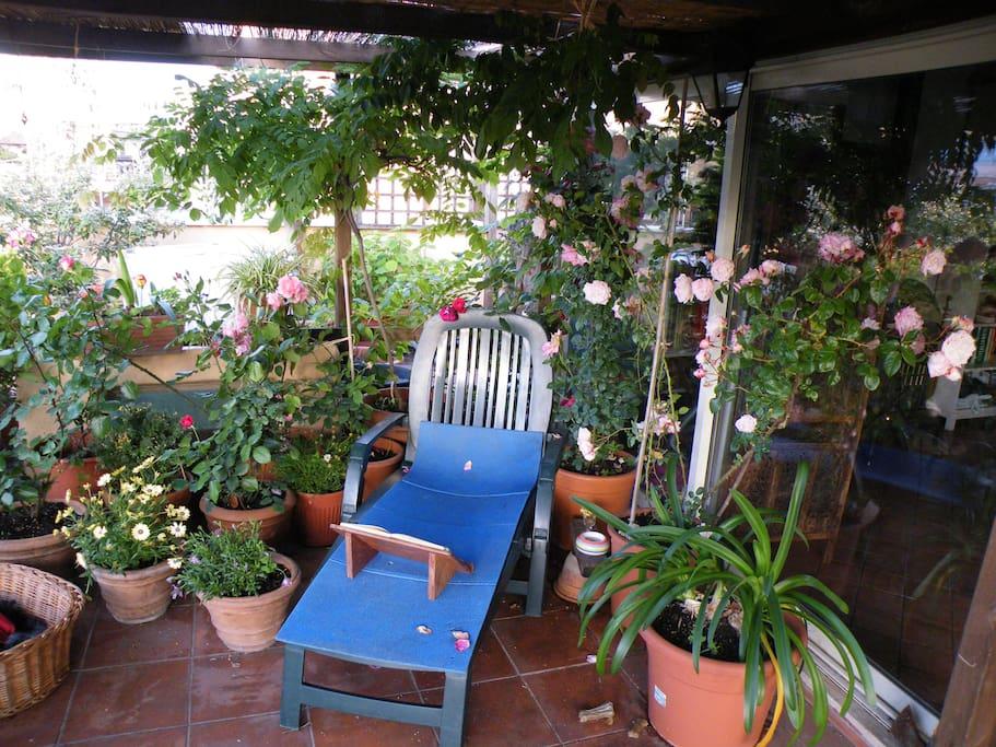 Zona relax in veranda.