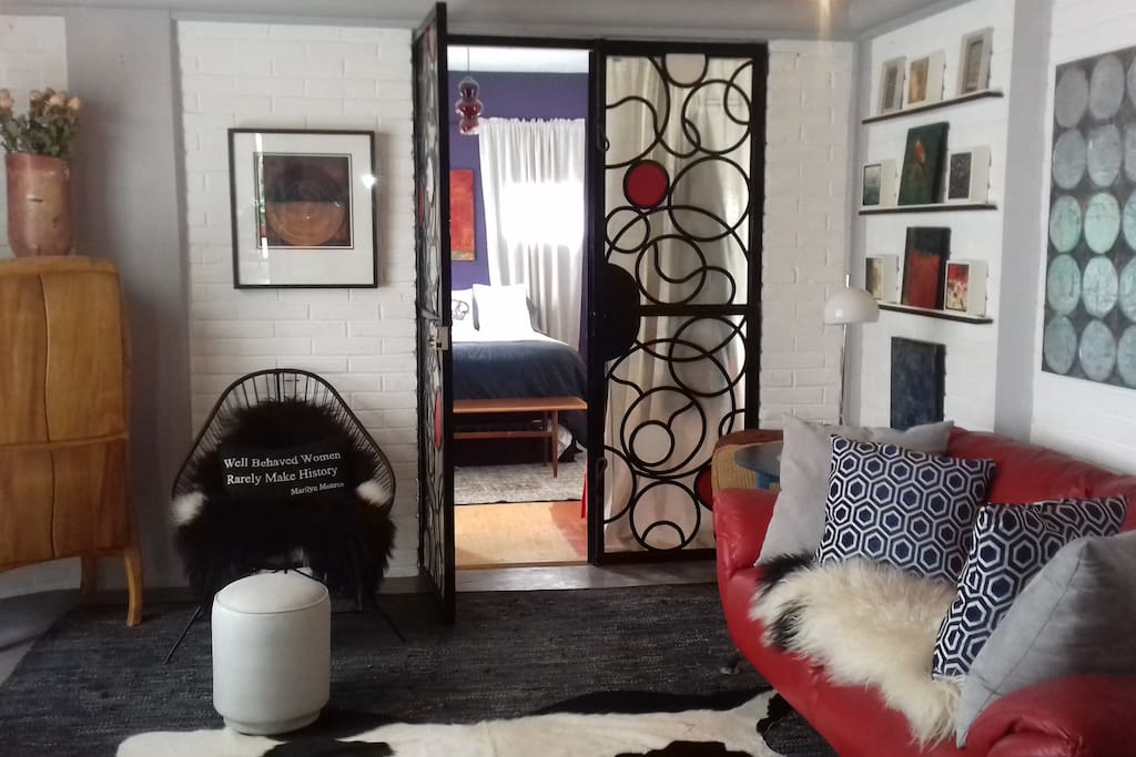 living room and entrance to bedroom #1