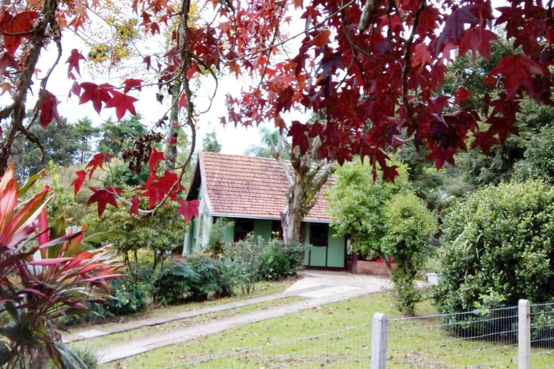 Casa típica alemã, construída em estilo enxaimel  .
