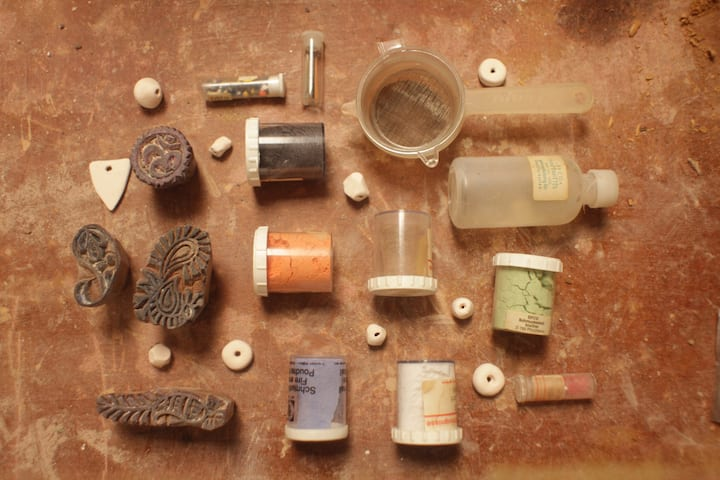 stamps and pigments