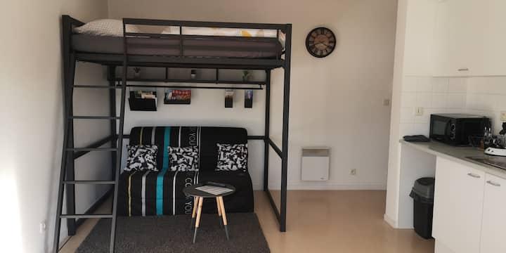 studio cosy en residence 4 personnes