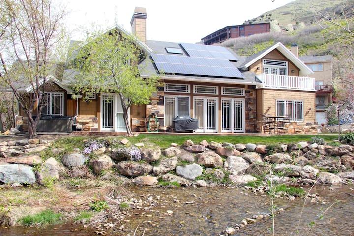 Gorgeous custom home on a stream