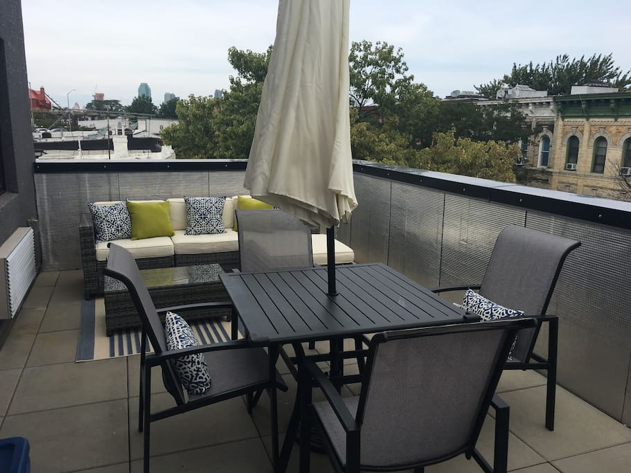 2 private terraces for your enjoyment