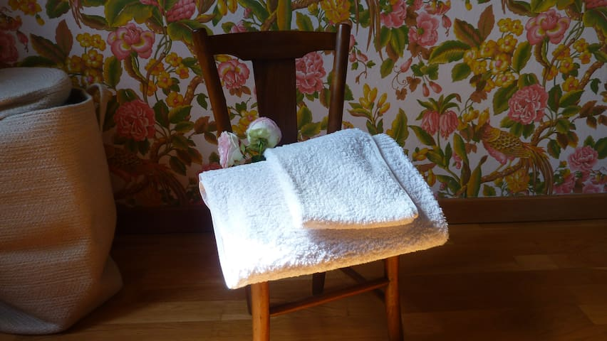 High quality cotton towels are provided for use during your stay (1 bath towel & 1 hand towel per person)