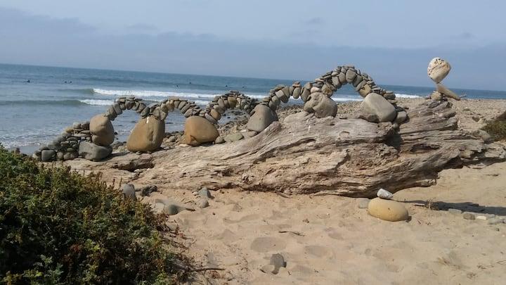 Stone Serpent Balancing Rock Sculpture
