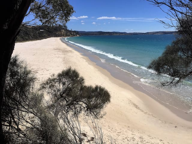 Deserted Spring Beach awaits you, only 50 metres walk