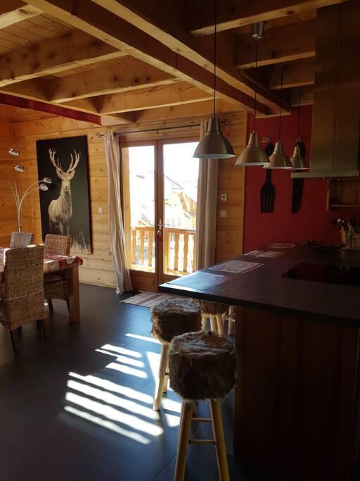 salon cuisine ouverte