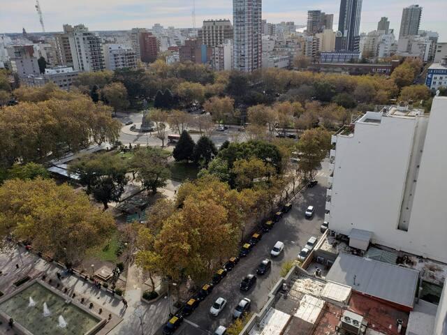 Vista a plaza San Martin