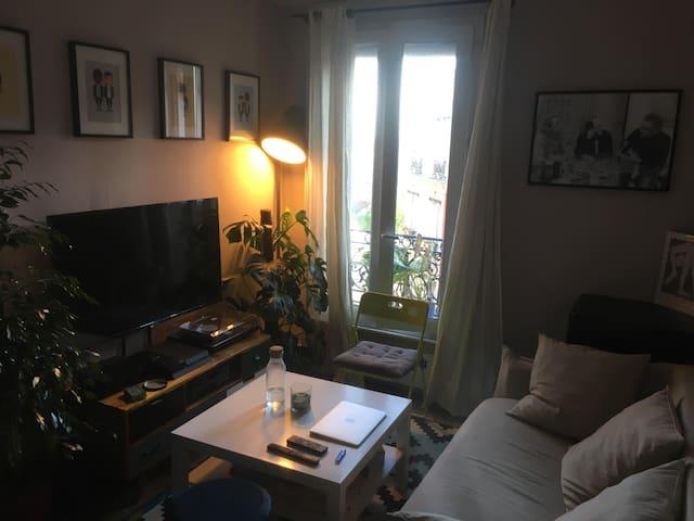 2 pièces Cosy  - Jourdain - Quartier Belleville