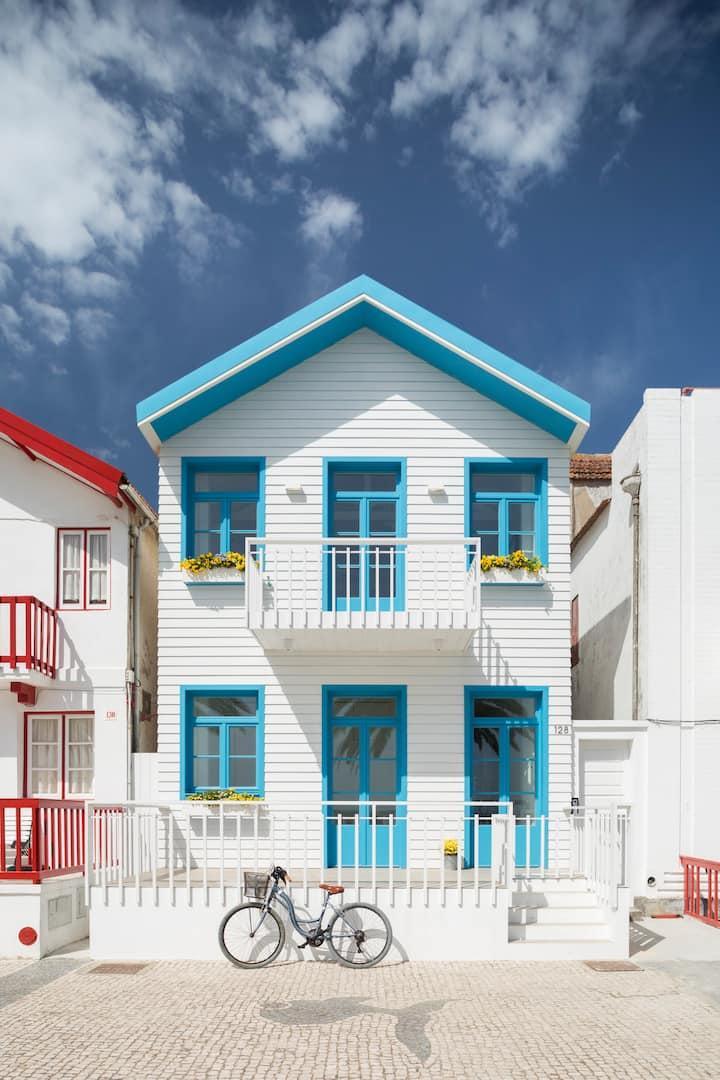 M Costa Nova- design beach house with view/terrace
