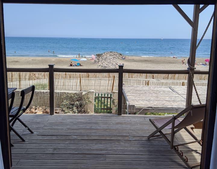 Maison sur la plage,  jaccuzzi et parking
