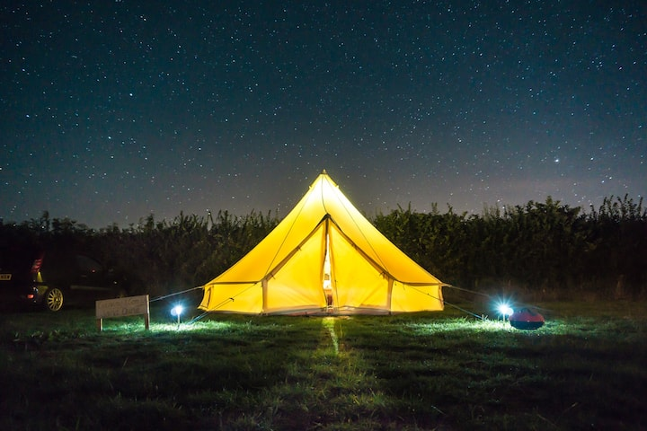 Bell Tent - Electric Pitch, Georgeham. SM.