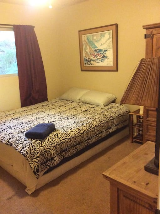 Extremely comfortable California king bed