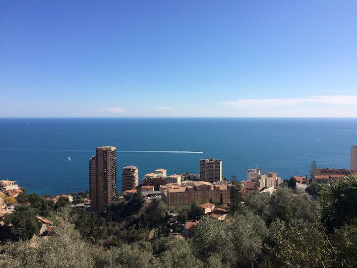 Villa de charme, Terrasses, Vue mer, Proche Monaco