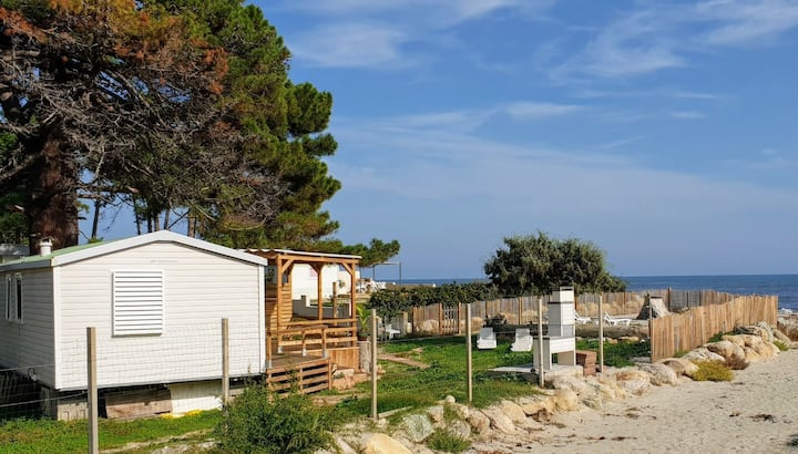 "Mobil Home ""A Stonda""-28m2-2 Rooms-4pers.-Beach"