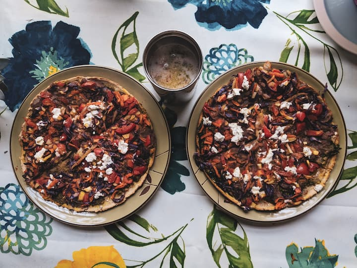 Plant based pizzas with a coconut café