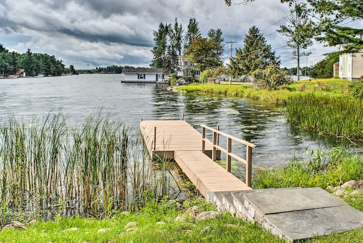 Waterfront 1BR Wellesley Island Apt w/Private Dock