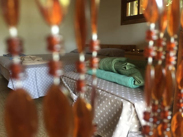 Bedroom 2 - Bead-curtained entrance