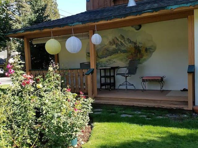 Garden and deck