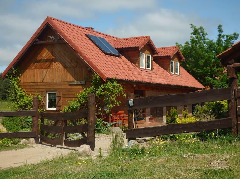 mazury lakes wooden house h user zur miete in pasym warmi sko mazurskie polen. Black Bedroom Furniture Sets. Home Design Ideas