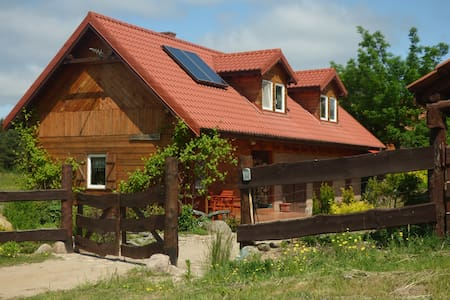 Nature at Mazury - Wooden house in the forest