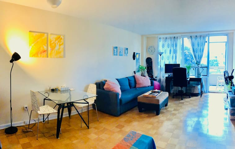 Bright 1br near St. Clair West subway