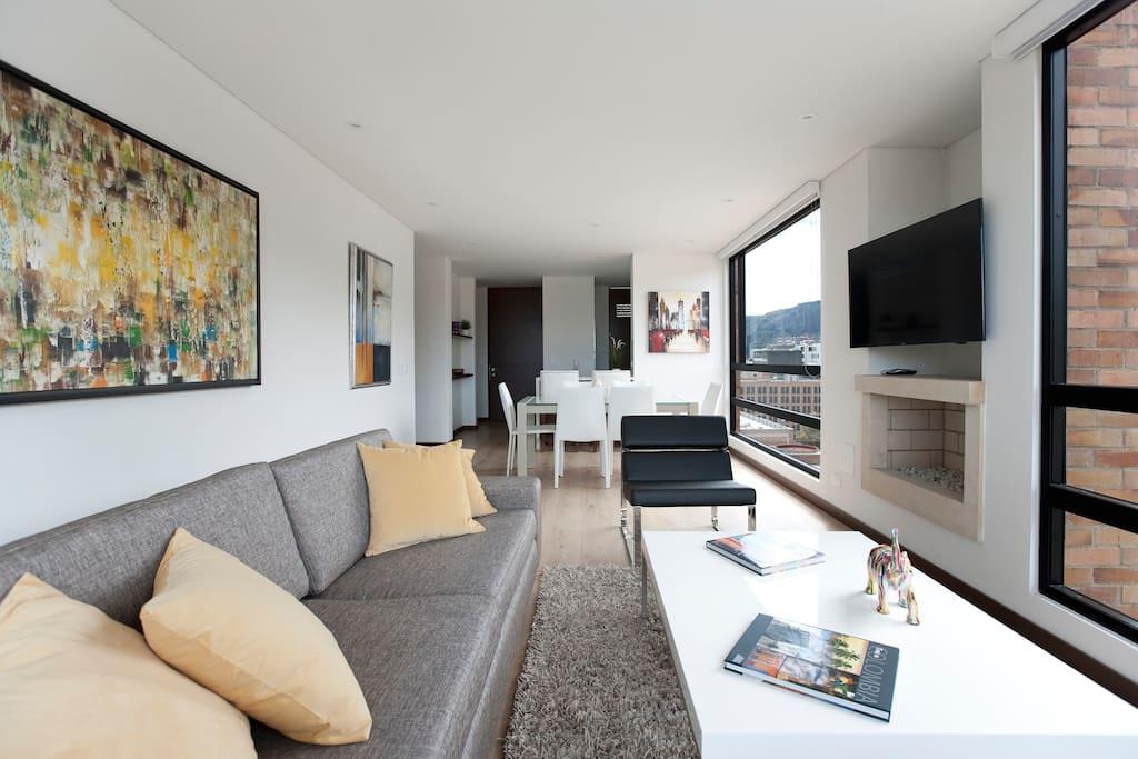 The superb living room.