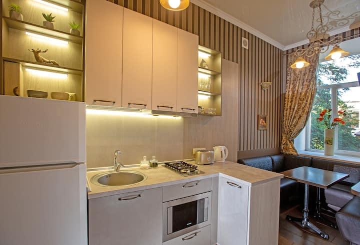 2-bedroom apt.Jacuzzi for two.Deribasovskaya st. City Garden