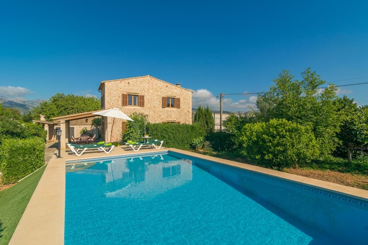 CAN TUT - Villa with private pool in Campanet Free WiFi