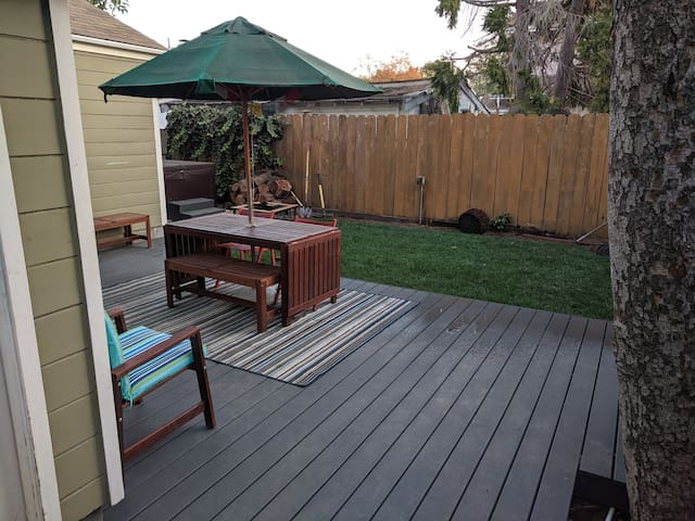 Shared back patio