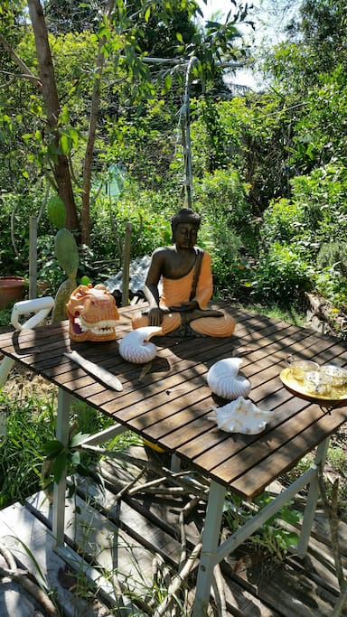Buddha  Meditation place in the garden.