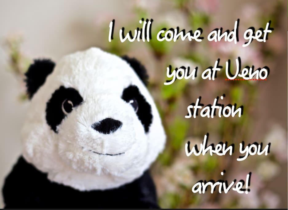 """""""Je vais vous cherche a la gare de Ueno"""""""