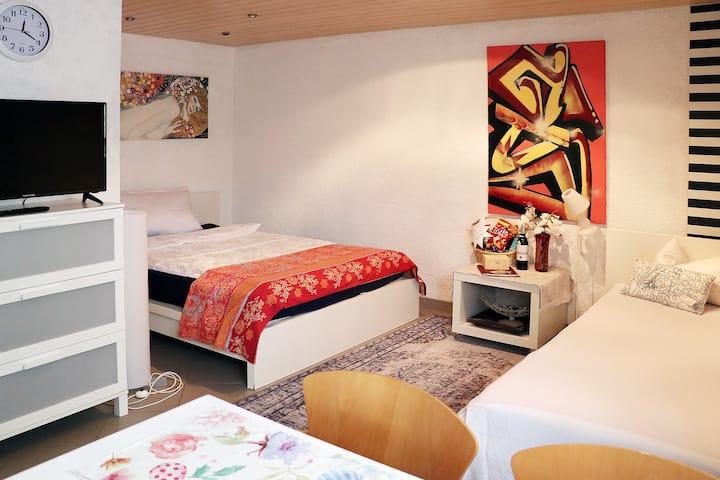 2 Zi. Apartment  bei Frankfurt bis 4 P -Kontaktlos