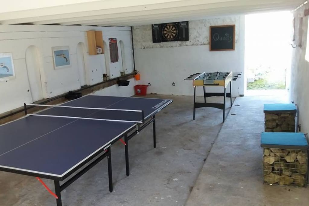 Games room in Barn
