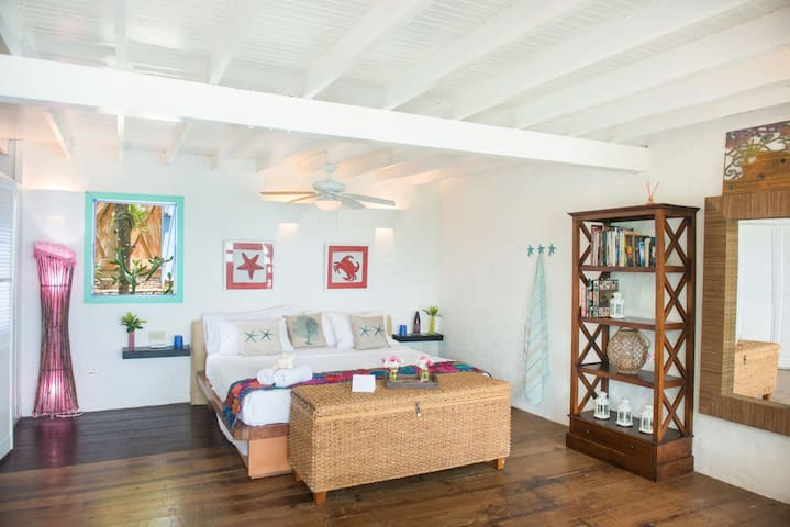 Zephyr - Suite Providencia - In Monasterio del Viento  Oceanfront with large balcony best view featured in Financial Times, Conde Nast, Architectural Digest, Vogue