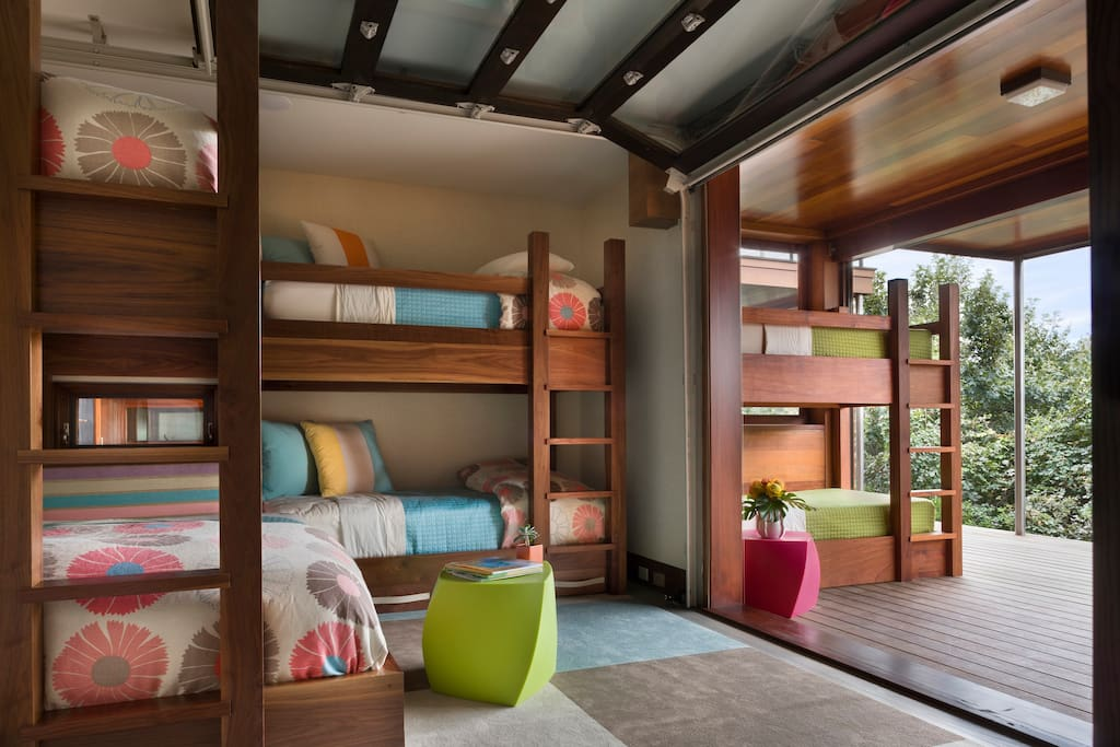 One of two bunk rooms sleep five each