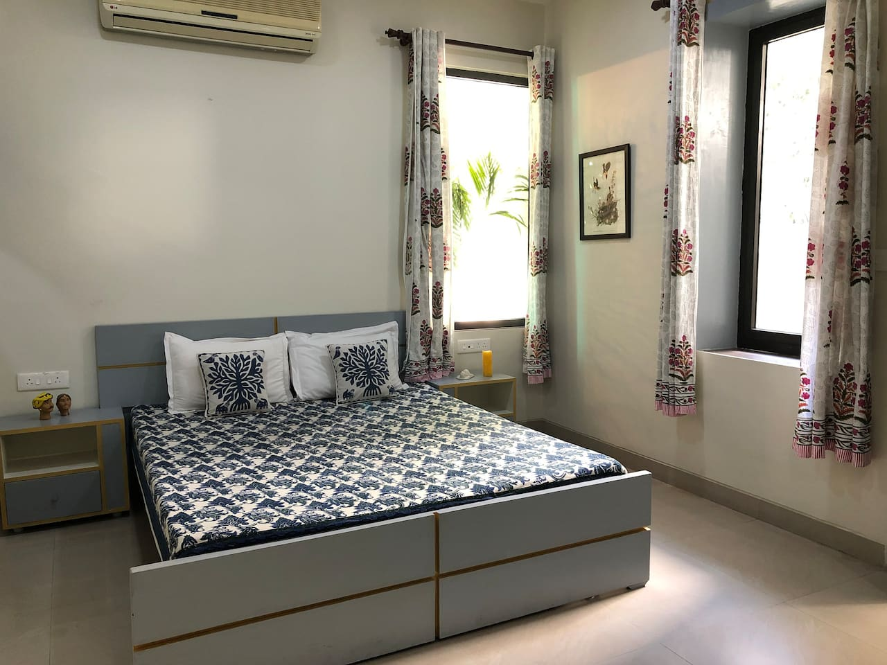 Bedroom with loads of natural daylight