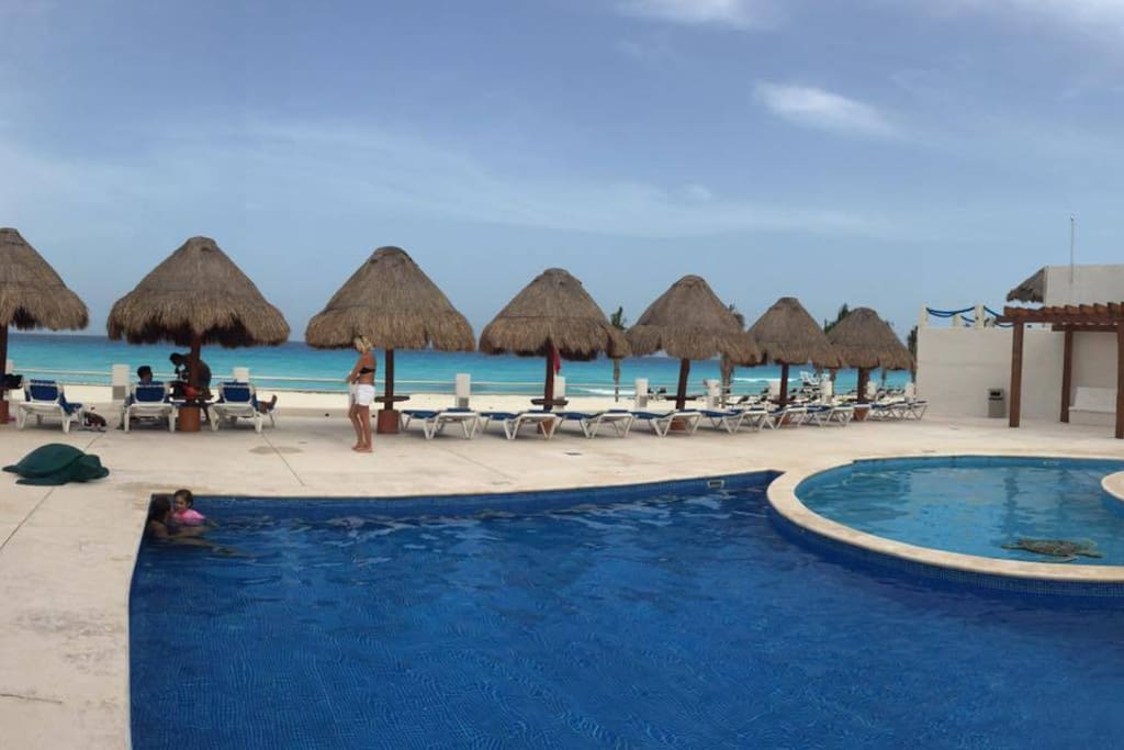 Departamento villas marlin cancun huoneistot for Villas quintana roo