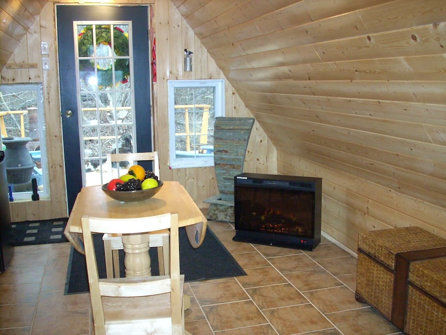 The LOFT is a heated cottage and can be enjoyed all year round.