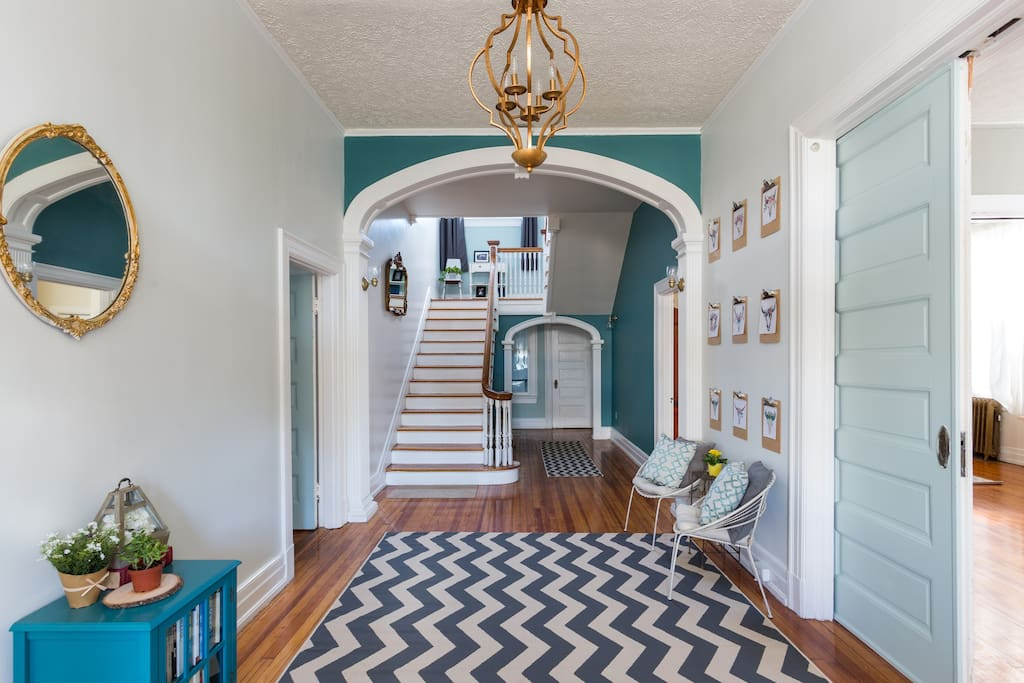 Entry into our foyer.
